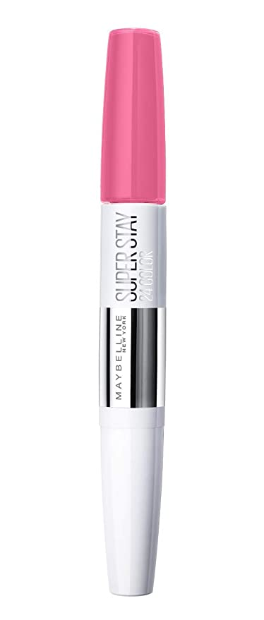 2a4738317ad4 Maybelline New York Barra de Labios Superstay 24H (Larga duración), Tono  130 Pinking