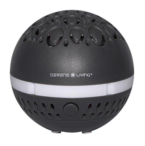 Dark Gray Diffuser - Greenair Serene Living Aromasphere Essential Oil Diffuser for Aromatherapy, Dark Gray, 0.5 Pound
