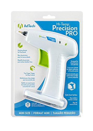 Pro Glue Gun (AdTech Precision PRO Hot Glue Gun for DIY and Crafting | High Temperature/High Temp Tool with Fine Tip Nozzle and Standing Design | Item #0449M)
