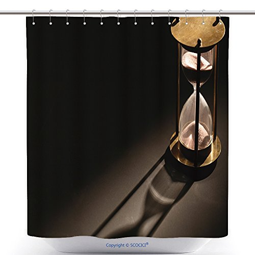 Cool Shower Curtains Vintage Hourglass On Dark Background With Long Shadow 521954857 Polyester Bathroom Shower Curtain Set With Hooks