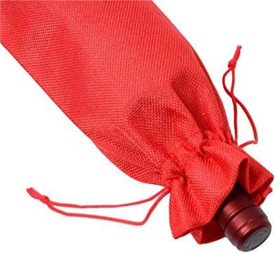 IETONE 6 Piezas Bolsas de Vino con Cordones Cubierta de Arpillera Bolsa 6,3 x 14,2 Pulgadas Reutilizable Tabla de Embalaje Decorativa Cubierta Adornos de Regalo