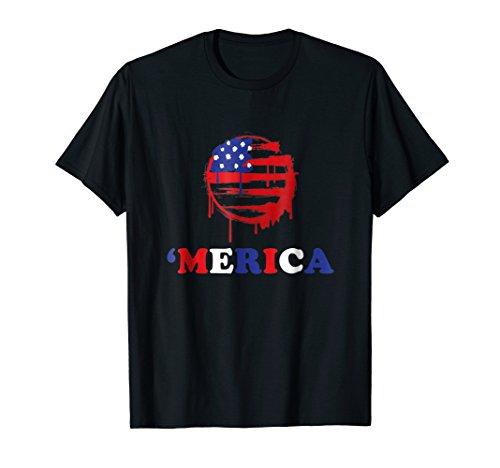 Vintage American Sunset USA Epic Patriot Flag T-Shirt