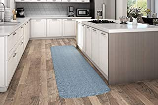 "NewLife by GelPro Anti-Fatigue Designer Comfort Kitchen Floor Mat, 30x108"", Tweed Hydrangea Stain Resistant Surface with 3/4"" Thick Ergo-foam Core for Health and Wellness (B073PLKTDY) 