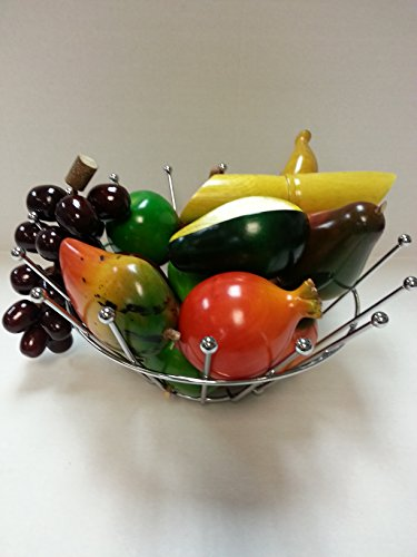 Set of 15 Hand Painted Wood Fruit Set by None (Image #1)