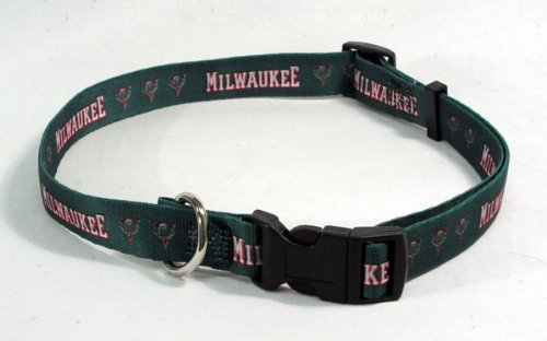 NBA Milwaukee Bucks Adjustable Pet Collar, Team Color, X-Large