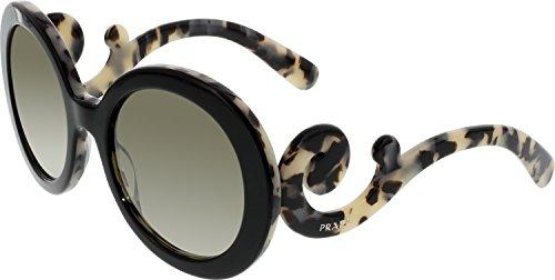 top black/white havana prada pr27ns 太阳镜太阳眼镜