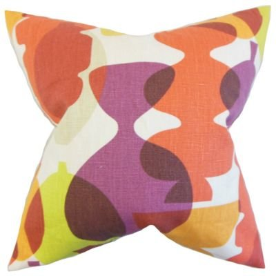 The Pillow Collection Orla Geometric Pillow Beet Root