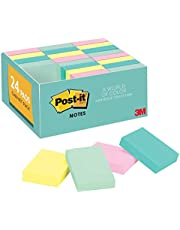 Post-it 65324APVAD Value Pack Original Pad Notes, Marseille Colors, 1 1/2 x 2 (Pack of 24)