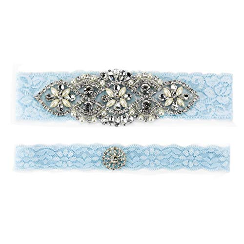 Bridal Ivory Floral Wedding Lace Retro Garters for Bride (J052)