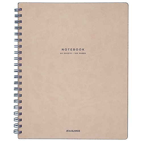 "At-A-Glance Notebook, Twinwire, Ruled, 80 Sheets, 11 x 8-3/4"", Collection, Tan/Blue (YP14307)"