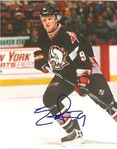Autographed Eric Rasmussen Photograph - Buffalo Sabres 8x10 - Autographed NHL Photos (Sabres Photo Buffalo Signed Nhl)