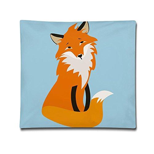 Kjaoi 1818 Inches Pillow Case Fox Comfortable Soft Bed Pillow Case Household Pillow Case Office Bolster]()