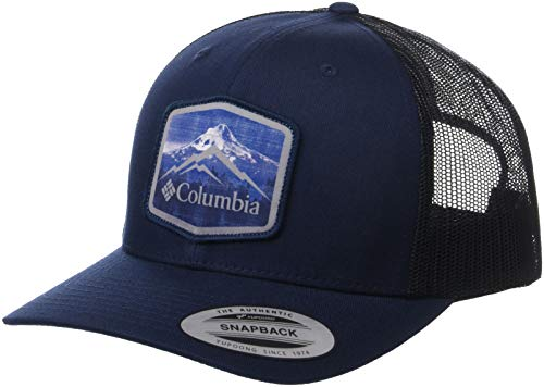 Columbia Men's Mesh Snap Back Hat, Collegiate Navy, Hex Patch One Size