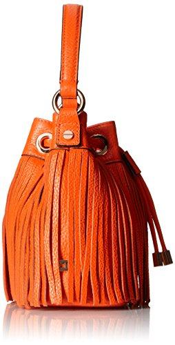 MILLY Essex Small Orange Body Convertible Bag Cross Fringe rr1fn7