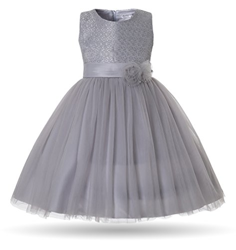 CIELARKO Girls Dress Tulle Lace Children Birthday Party