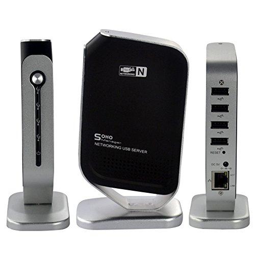 CkeyiN® LAN-Server Gigabit 10-1000Mbps, Digitus Netzwerk Hub (4-Port, USB 2.0)