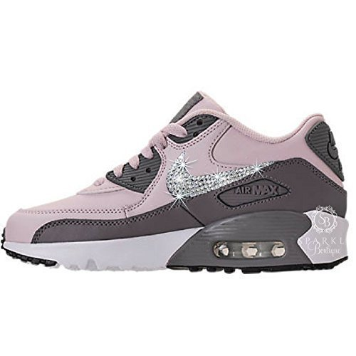 Swarovski Nike, NIKE Bling, Nike Air Max 90 Casual Leather, Custom Nike, Bling Nike, Bedazzled Kicks by Sparkle Boutique Custom Bling