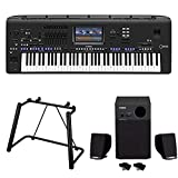 Yamaha Genos 76-Key Arranger Workstation with Stand and 3-piece Speaker System