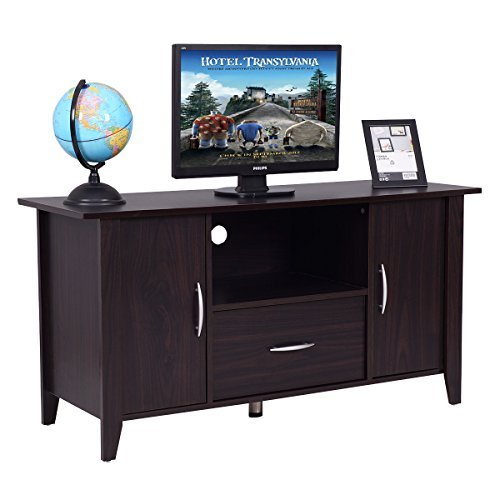 tand Wooden Multipurpose Home Furniture Storage Console Cabinet Entertainment Media Center with Shelf and Drawer (2 Drawer Set Entertainment Center)
