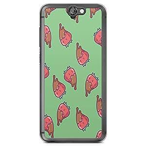 HTC One A9 Transparent Edge Phone Case Cute Strawberry Phone Case Straweberry Chocolate Phone Cae