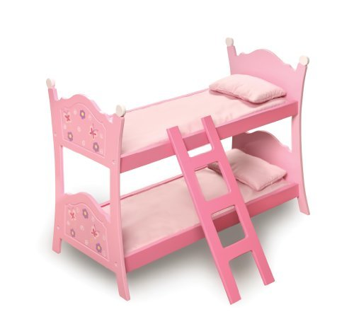 Badger Basket Blossoms and Butterflies Doll Bunk Beds with Ladder (fits American Girl dolls) by Badger (Maple Doll Bed)