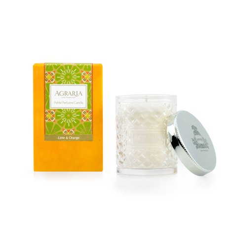 (AGRARIA Luxury Woven Crystal Fragrance Lime and Orange Scented Perfume Candle, 3.4 Ounces)