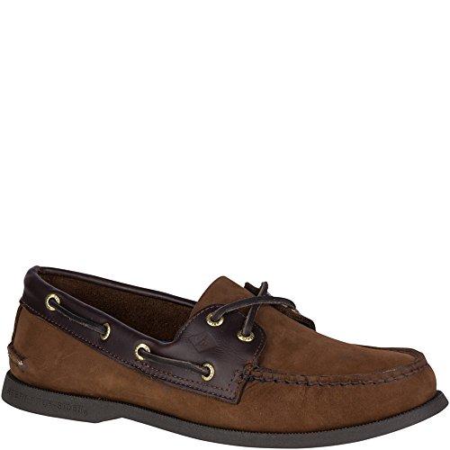 Sperry Top-Sider Men's a/O 2-Eye Boat Shoe, Brown/Buck Brown, 6.5 Wide US