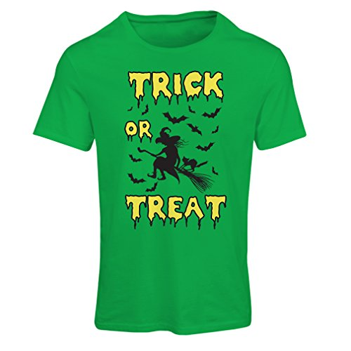 T Shirts For Women Trick or Treat - Halloween Witch - Party Outfites - Scary Costume (Small Green Multi (Ninja Costume Halloween Homemade)