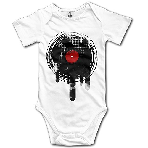 Price comparison product image Melting Vinyl Record Dj Retro Infant Boys Girls Baby Onesies Outfits Organic