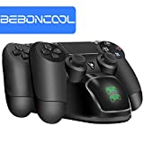 PS4 Charging Dock, BEBONCOOL PlayStation 4 Charging Station, PS4 Dual Charger For Sony PlayStation 4 Controller