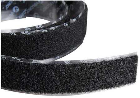 2'' W x 7539; L Loop Black Reclosable Adhesive Fastener Roll