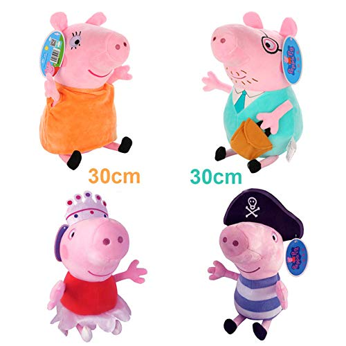 Brand 4Pcs/Set Stuffed Plush Toy 19/30Cm George Pig Family Party Dolls Christmas New Year Gift for Girl Toddler Must Haves Gift Tags Girl S Favourite Superhero Coloring UNbox Game by TREGIA