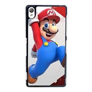 caja del teléfono celular Funda Sony Xperia Z3 Negro Funda Mario D1I5UF