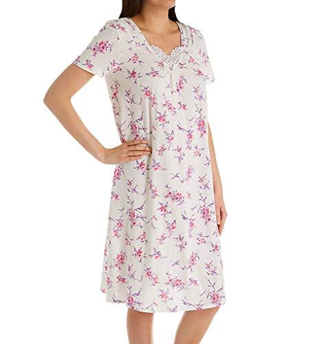 Carole Hochman Women's Waltz Nightgown, White Bouquet, S Carole Hochman Cotton Nightgown