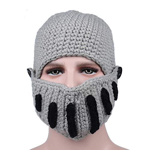 Mujeres gris Lana Beanie Skull Winter IRONLAND claro Warm para y Hats Cap Knitting Hombres q1ACwxwPnF