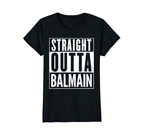 Womens Straight Outta Balmain Funny T-Shirt Small - Women Balmain