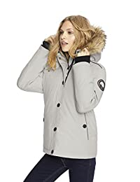Alpinetek Women's Short Down Bomber Parka Coat