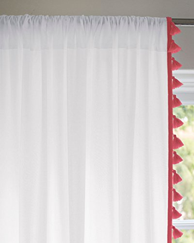 Serena & Lily French Tassel Reversible Window Panel, 50X84