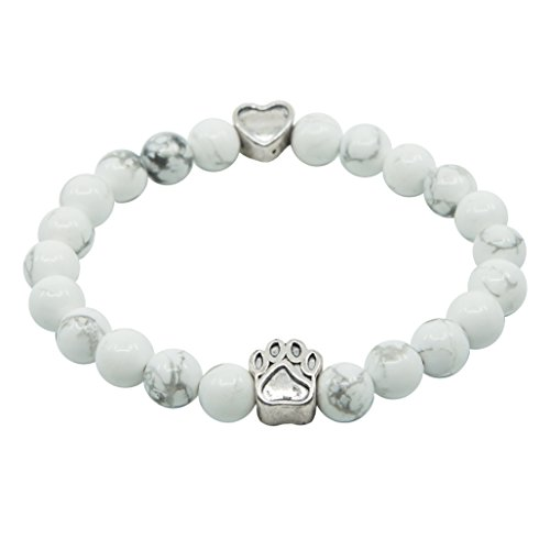 Dog Pet Gift - Pet Memorial Bracelet Gift - Limited Edition 22 Agate Bead - Provides 22 Meals for Shelter Animals In Honor of Your Beloved Pet