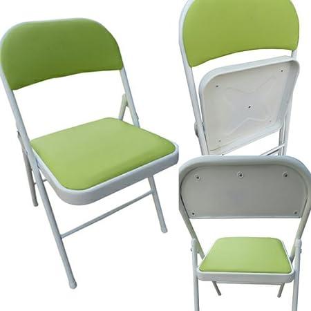 Amaze Folding Steel Chair (Standard Size, Green)