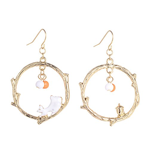 Halloween Costumes For Asian Girl And White Guy (GBJewelry Cute Bunny Rabbit Hoop Drop Earrings Gold Girls)