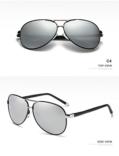 Polarizadas C4 Aviator Protección para UV Mujer Sol C2 Gafas De Hombre para 400 EwqfnA