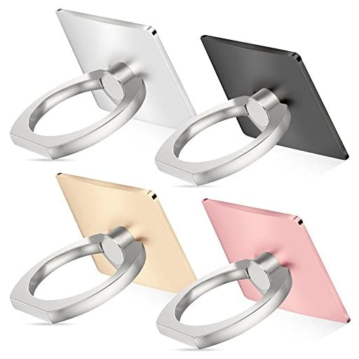 Cell phone holder, 4 Pack SENHAI Universal Smartphone Ring Grip Stand Car Mounts for Iphone, Ipad, Samsung HTC Nokia Smartphones, Tablet