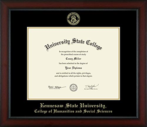 Kennesaw State University College of Humanities and Social Sciences - Officially Licensed - Gold Embossed Diploma Frame - Diploma Size 14