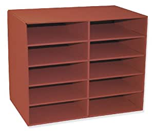 Pacon Classroom Keepers 10-Shelf Organizer, Red (001314)