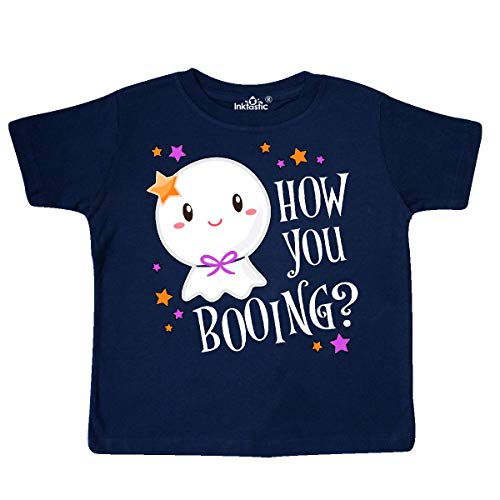 inktastic - How You Booing? Cute Ghost Toddler T-Shirt 5/6 Navy Blue 33247 ()