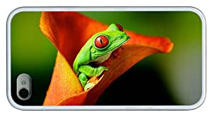 Hipster iPhone 4S good cases tree frog hd TPU White for Apple iPhone 4/4S