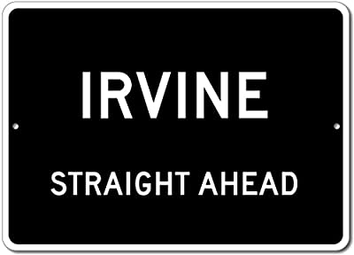 Custom Aluminum Sign - IRVINE, KENTUCKY US City Straight Ahead Sign