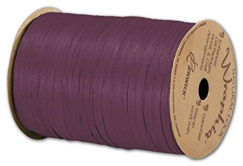Solid Raffia - Matte Wraphia Wine Ribbon, 1/4