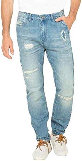 Desigual Pantalon Azul Para Hombre Talla 28 Amazon Es Ropa Y Accesorios